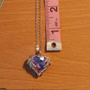 Large pinkish crystal pendant